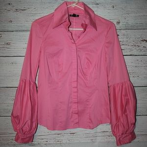 Medium  bebe button down puffed long sleeve blouse